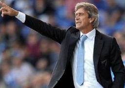 المدرب بليجريني يعود من الايقاف لقيادة مانشستر سيتي أمام روما