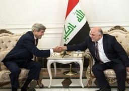 """كيري: """"إعادة هيكلة""""الجيش العراقي وتدريبه ضمن استراتيجية يعلن عنها اوباما"""