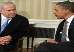 """أوباما يبحث مع نتنياهو النزاع الإسرائيلى الفلسطينى ومحاربة """"داعش"""""""