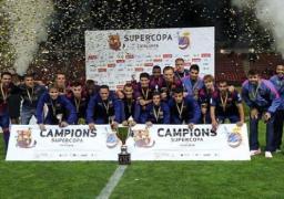 برشلونة يتوج بالنسخة الأولى من كأس السوبر الكاتالوني