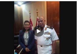 خاص لـ راديو مصر لقاء قائد القوات البحريه  الفريق اسامه الجندى  بمناسبة عيد القوات البحرية