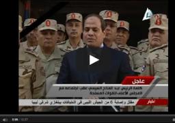 """بالفيديو : الرئيس: مش هنسيب سيناء.. يا تبقى للمصريين يا نموت"""""""