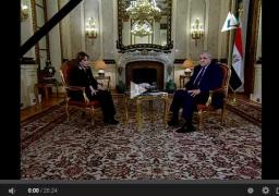 بالفيديو : برنامج لقاء خاص مع رئيس الوزراء المهندس ابراهيم محلب