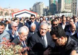محلب ومحافظ القاهرة يفتتحان جراج التحرير