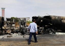 داعش تستهدف مطار الأبرق الدولي شرق ليبيا بصواريخ جراد