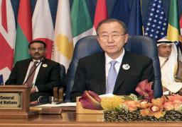 بان كي مون: مؤتمر الكويت للمانحين حصل على تعهدات قيمتها 3.8 مليار دولار لسوريا