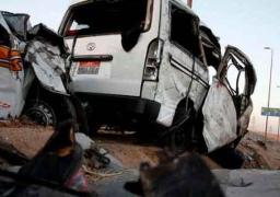 مصرع عاملين وإصابة 22 آخرين في حادث تصادم أتوبيسى رحلات بالشرقية