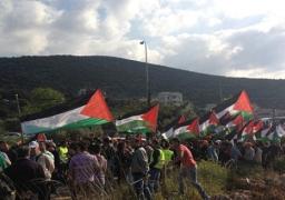 """قوات الاحتلال تطلق الرصاص على مسيرات """"يوم الأرض"""""""