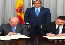 السيسي يشهد توقيع مذكرة تفاهم فى مجال النقل بين مصر وإسبانيا