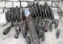 العثور على 46 دانة مدفع حرب اسفل احد المنازل بالقناطر الخيرية