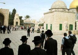 مستوطنون يقتحمون المسجد الأقصى فى حراسة قوات الاحتلال