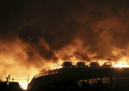 اجلاء السكان من منطقة الانفجارات في الصين خوفا من تلوث كيميائي