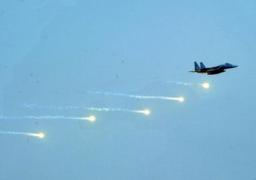 الطائرات تقصف معسكرين للحرس الجمهورى في صنعاء