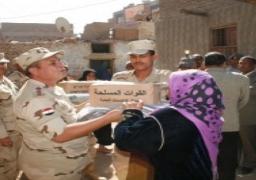 """توزيع 16 ألف """"كرتونة رمضانية"""" مهداة من القوات المسلحة للأسر الأكثر احتياجا بالدقهلية"""