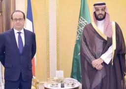 أولاند يبحث مع ولي ولي العهد السعودي الملفات الإقليمية والتعاون الثنائي