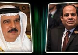 الرئيس السيسي يتلقى اتصالا من ملك البحرين لبحث سُبل دفع العلاقات الثنائية بين البلدين