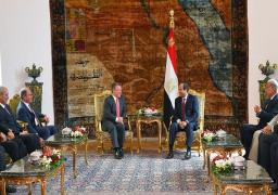 الرئيس السيسى يستقبل ملك الأردن ويعقد معه جلسة مباحثات