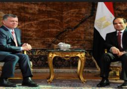 جلسة مباحثات بين الرئيس السيسي وملك الأردن لدفع العلاقات وبحث قضايا المنطقة