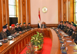 السيسي يوجه باستمرار التنسيق المكثف بين القوات المسلحة والشرطة