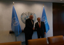 شكري يلتقي سكرتير الأمم المتحدة في نيويورك