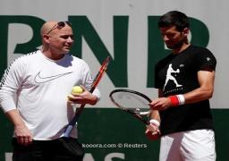 ديوكوفيتش يبدأ التدريب مع أسطورة التنس أجاسي