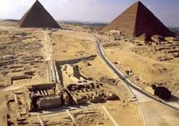 """""""الآثار"""" تبدأ فى ترميم معبد الوادى بمنطقة الهرم الأثرية"""