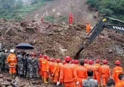 إرتفاع اعداد المفقودين إثر الانهيار الأرضي في الصين إلى 141 شخصا