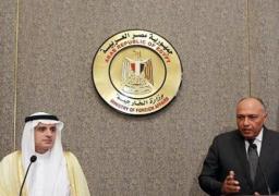 بالفيديو.. شكري والجبير يؤكدان أهمية العلاقات التاريخية والمتينة بين مصر والسعودية