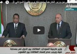 فيديو : مؤتمر صحفى بين وزير الخارجية سامح شكرى و نظيرة السوداني