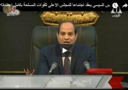 كلمة الرئيس عبد الفتاح السيسي في ذكرى انتصار أكتوبر المجيد