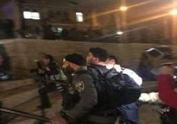 الاحتلال الإسرائيلي يتعدى على المعتصمين بباب العمود