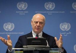 دي ميستورا يتوقع محادثات صعبة لوقف إطلاق النار بسوريا