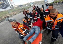 إصابات خلال المواجهات مع الاحتلال الإسرائيلي