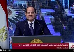 السيسي: سيناء 2018 تحقق نجاحات.. ودماء الشهداء دافع قوى ونبراس منير