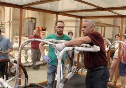 المتحف المصرى الكبير يستقبل العجلة الحربية والسرير الجنائزى الثالث لتوت عنخ آمون | صور