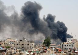 7 قتلى فى قصف على مواقع لداعش بدمشق ..