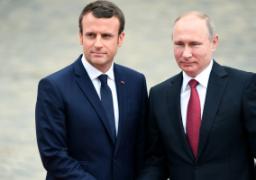 ماكرون يزور روسيا لبحث العلاقات الثنائية والملفين الإيرانى والسورى