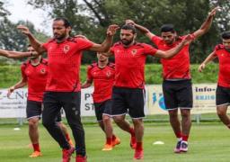 الأهلي يواصل تدريباته استعدادا لمباراة العودة أمام حوريا الغيني السبت المقبل
