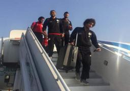 بعثة المنتخب الوطنى لكرة القدم تعود الى القاهرة بعد الفوز على آى سواتينى