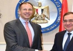 وزير البترول يبحث مع مسؤول أمريكي سبل تعزيز التعاون في مجال صناعة البترول والغاز