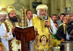 البابا تواضروس يترأس صلوات قداس عيد الغطاس بالإسكندرية