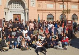 جولة لوفد شبابي من أبناء المصريين بأستراليا بالمتحف المصرى
