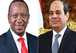 السيسي يؤكد حرص مصر على تعزيز العلاقات مع كينيا في المجالات كافة