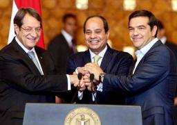 رئيس الوزراء يشهد توقيع اتفاقية الربط الكهربائى بين مصر وقبرص واليونان