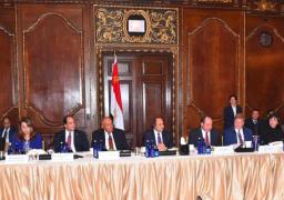 الرئيس السيسى يشارك فى مأدبة عشاء أقامتها غرفة التجارة الأمريكية