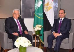بالصور … استقبل الرئيس السيسي نظيره الفلسطيني محمود عباس وذلك بمقر إقامة السيد الرئيس بنيويورك