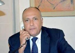 شكرى يبحث مع نظيره الايرانى الاوضاع فى غزة ويلتقى غدا نائب وزير الخارجية اليابانى