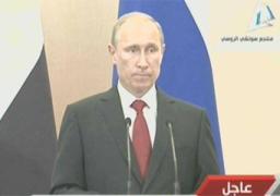 بوتين: موسكو ستزيد إمدادات القمح لمصر وتدرس منطقة للتجارة الحرة