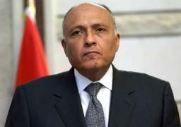 شكري يصل إلي مدريد للمشاركة في المؤتمر الوزاري حول ليبيا