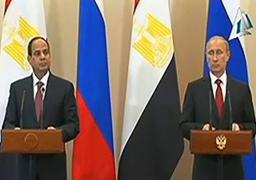 بوتين: مصر وروسيا اتفقتا على التعاون فى مجال الطاقة النووية السلمية